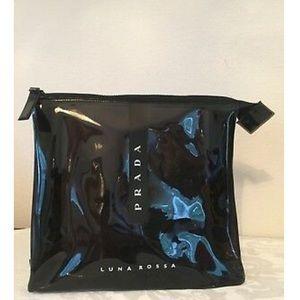 Prada NWOT Clear Black Cosmetic Makeup Bag